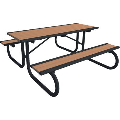 Picnic Tables - Recycled Plastic - 6' Richmond Recycled Plastic Table, Portable