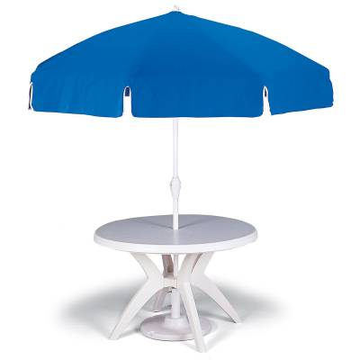 Grosfillex Patio Furniture - Occasional Tables & Umbrellas - 7 1/2' Push Up Umbrella
