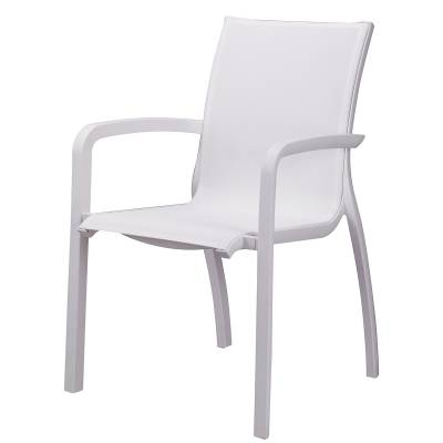 Grosfillex Patio Furniture   Sunset Sling Stacking Armchair