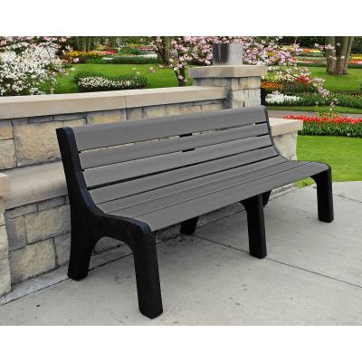 Park Benches - Recycled Plastic - Quick Ship - 4', 6' and 8' Newport Recycled Plastic Bench – Portable - Quick Ship