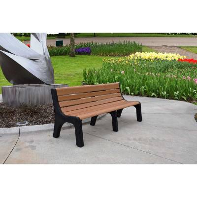 4', 6' and 8' Newport Recycled Plastic Bench – Portable - Quick Ship - Image 2