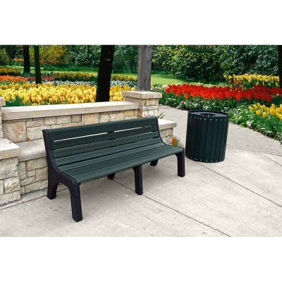 4', 6' and 8' Newport Recycled Plastic Bench – Portable - Quick Ship - Image 3