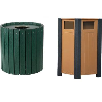 Trash Disposal - Recycled Plastic Trash Receptacles - Quick Ship