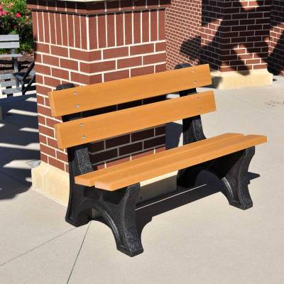 Park Benches - Recycled Plastic - Quick Ship - 4', 6' and 8' Colonial Recycled Plastic Bench - Portable - Quick Ship