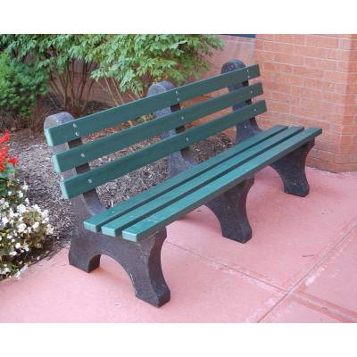 Park Benches - Recycled Plastic - Quick Ship - 4', 6' and 8' Central Park Avenue Recycled Plastic Bench - Portable - Quick Ship