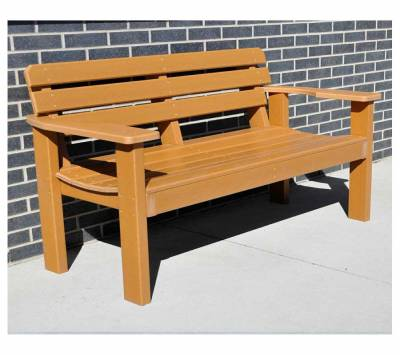 Park Benches - 4' and 6' Elizabeth Recycled Plastic Bench - Portable - Quick Ship