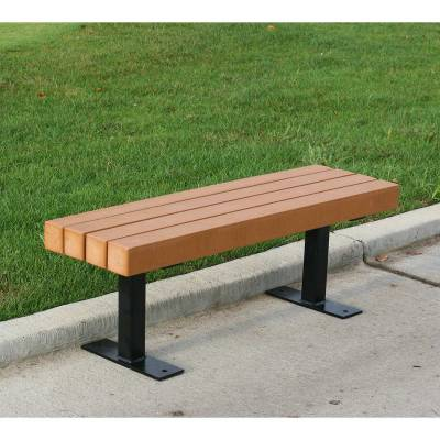 4', 6' and 8' Trailside Recycled Plastic Bench - Surface and Inground Mount - Quick Ship - Image 2