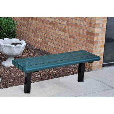 4', 6' and 8' Creekside Recycled Plastic Bench - Surface and Inground Mount - Image 2
