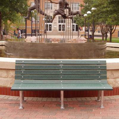 Park Benches - Recycled Plastic - Quick Ship - 4', 6' and 8' Saint Pete Recycled Plastic Bench – Portable/Surface Mount - Quick Ship