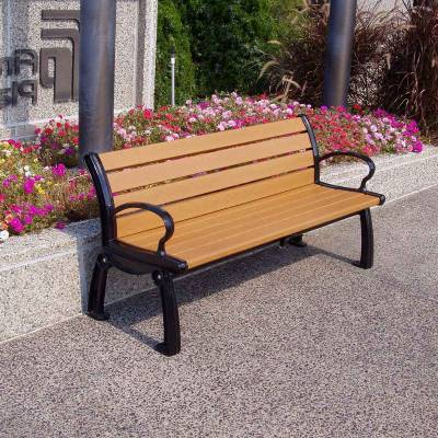 4', 5', 6' and 8' Heritage Recycled Plastic Bench - Portable/Surface Mount - Image 1