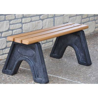 4', 6' and 8' Sport Recycled Plastic Bench - Portable - Quick Ship - Image 1