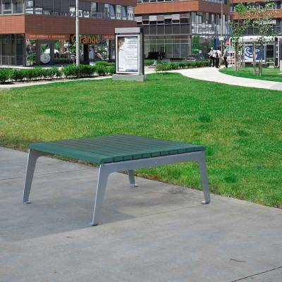 Plaza Recycled Plastic Table - Quick Ship - Image 2