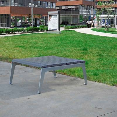 Plaza Recycled Plastic Table - Quick Ship - Image 3