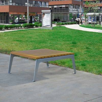 Plaza Recycled Plastic Table - Quick Ship - Image 4