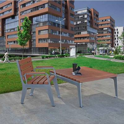 Plaza Recycled Plastic Table - Quick Ship - Image 5