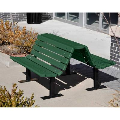 4', 6' and 8' Douglas Recycled Plastic Double Bench - Portable/Surface Mount - Quick Ship - Image 3