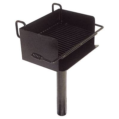 Grills and Fire Rings - Park Grills - Rotating ADA Grill - Inground Mount