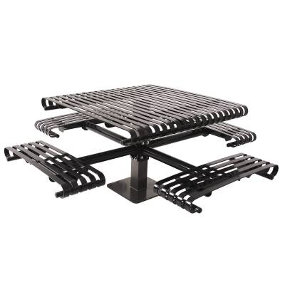 "Picnic Tables - Patio Tables and Seating - 46"" Square Kensington Picnic Table - Surface and Inground Mount"