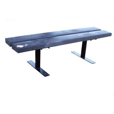 4', 5', 6' and 8' Deco Recycled Plastic Bench - Portable, Surface and Inground Mount - Image 1