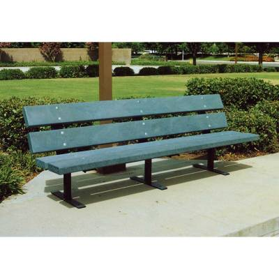 4', 5', 6' and 8' Metro Recycled Plastic Bench - Portable, Surface and Inground Mount - Image 2