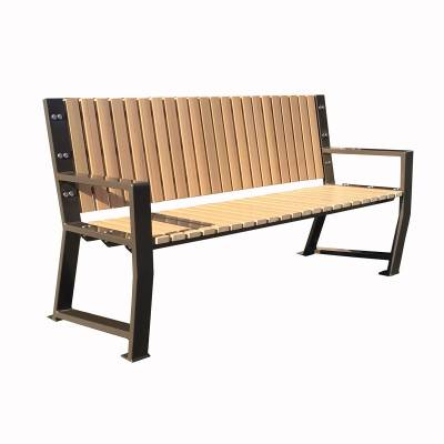 "Park Benches - 67"" Riverstone Recycled Plastic Bench - Portable/Surface Mount."
