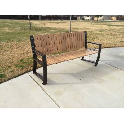 "67"" Riverstone Recycled Plastic Bench - Portable/Surface Mount. - Image 3"
