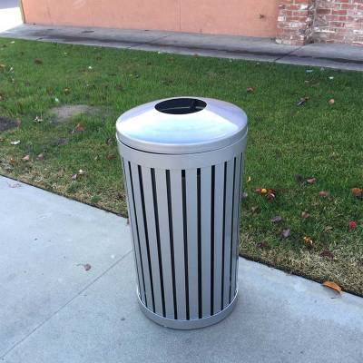 24 Gallon Iron Valley Trash Receptacle - Image 2