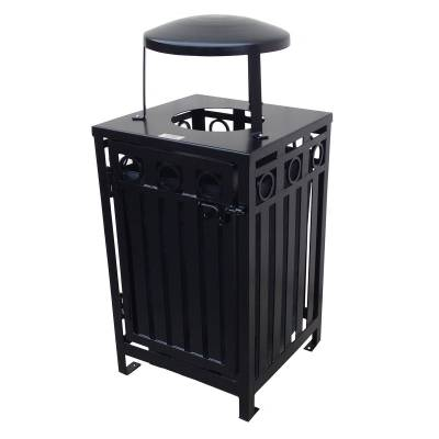 Trash Disposal - 32 Gallon Iron Valley Trash Receptacle