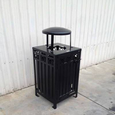 32 Gallon Iron Valley Trash Receptacle - Image 2