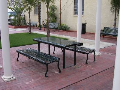 6' and 8' Iron Valley Picnic Table - Surface and Inground Mount - Image 2