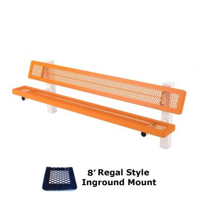 6' and 8' Regal Mounted Bench - Surface and Inground Mount - Image 4