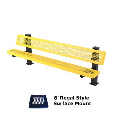 6' and 8' Regal Mounted Bench - Surface and Inground Mount - Image 3