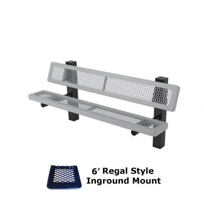 6' and 8' Regal Mounted Bench - Surface and Inground Mount - Image 2