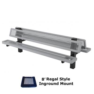 6' and 8' Regal Double Mounted Bench - Surface and Inground Mount - Image 4