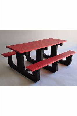 6' and 8' Recycled Plastic Park Place Picnic Table, Portable - Quick Ship - Image 5