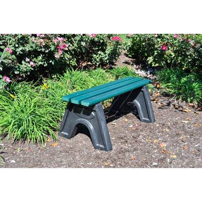 4', 6' and 8' Sport Recycled Plastic Bench - Portable - Quick Ship - Image 2