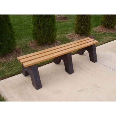 4', 6' and 8' Sport Recycled Plastic Bench - Portable - Quick Ship - Image 3