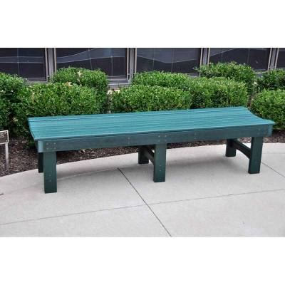 4', 6' and 8' Garden Recycled Plastic Bench - Portable - Quick Ship - Image 2