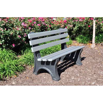 4', 6' and 8' Central Park Avenue Recycled Plastic Bench - Portable - Quick Ship - Image 2