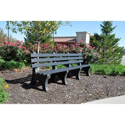 4', 6' and 8' Central Park Avenue Recycled Plastic Bench - Portable - Quick Ship - Image 3