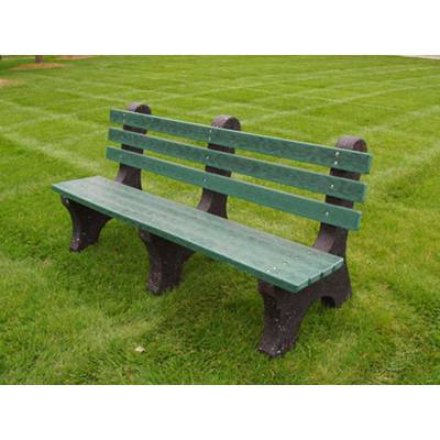4', 6' and 8' Comfort Park Avenue Recycled Plastic Bench - Portable - Quick Ship - Image 2