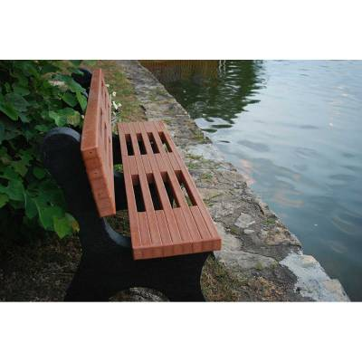 4', 6' and 8' Ariel Recycled Plastic Bench - Portable - Image 2