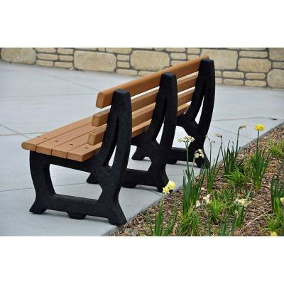4' and 6' Brooklyn Recycled Plastic Bench - Portable - Quick Ship - Image 2