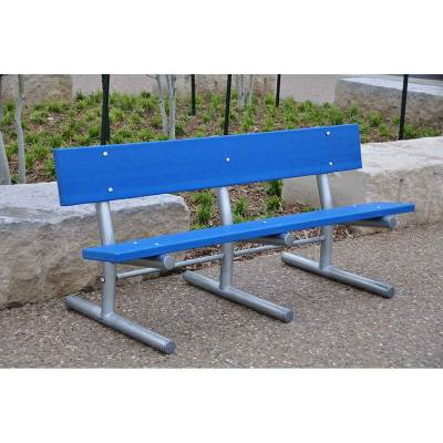 6' Madison Recycled Plastic Bench – Portable, Surface and Inground Mount - Quick Ship - Image 2