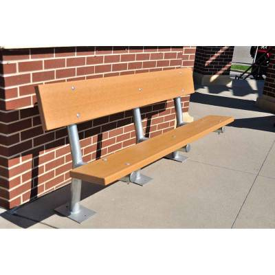 6' Madison Recycled Plastic Bench – Portable, Surface and Inground Mount - Quick Ship - Image 3