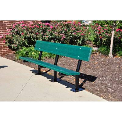 6' Madison Recycled Plastic Bench – Portable, Surface and Inground Mount - Quick Ship - Image 4