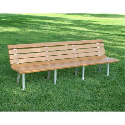 4', 6' and 8' Saint Pete Recycled Plastic Bench – Portable/Surface Mount - Quick Ship - Image 2