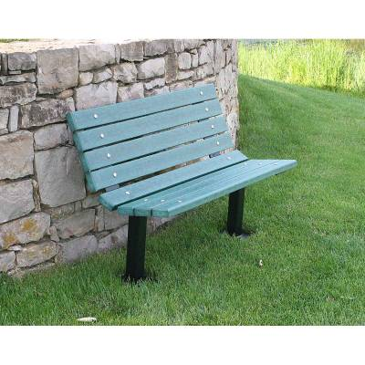 4', 6' and 8' Contour Recycled Plastic Bench - Surface and Inground Mount - Quick Ship - Image 2
