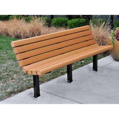 4', 6' and 8' Jameson Recycled Plastic Bench - Surface and Inground Mount - Quick Ship - Image 2