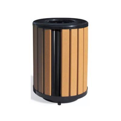 Trash Disposal - Recycled Plastic Trash Receptacles - Quick Ship - 32 Gallon Richmond Recycled Plastic Trash Receptacle